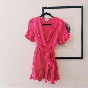 Line & Dot Cherie Wrap Mini Dress